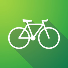 bicycle long shadow icon