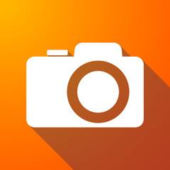 photo camera long shadow icon