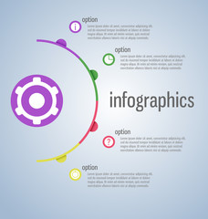 Modern, clear template cirlce shape. Can be used for infographic