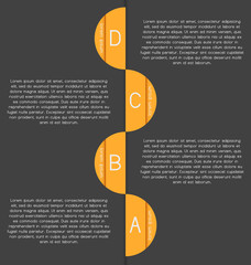 Modern, clear template. Can be used for infographics, websites e