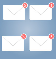 Icons set. 4 pieces. Can be used in WEB interfaces, mobile, UI.