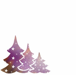 Christmas trees background with space for text