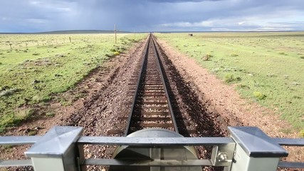 Train Ride Footage From the Caboose of a Railroad.