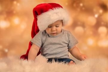 Kleiner Weihnachtsmann in der stillen Zeit