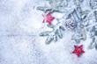 canvas print picture - Weihnachtlicher Hintergrund II