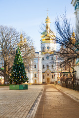 Cathedral of the Dormition and new year tree, Kiev