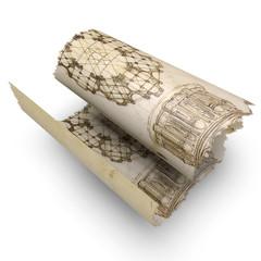 Carta pergamena papiro disegni antichi