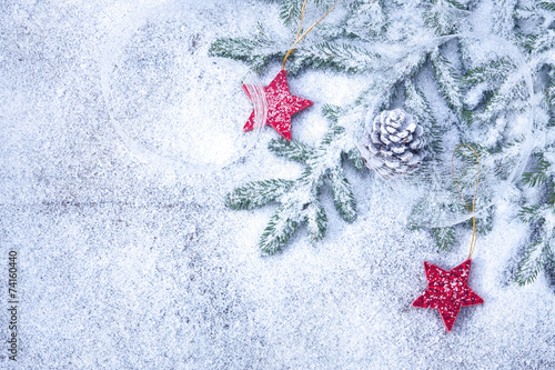 canvas print picture Weihnachtlicher Hintergrund II