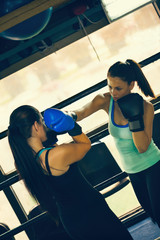 Two Female Sparring