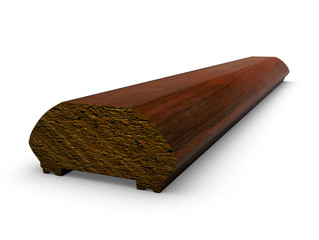 wooden toprail on the white