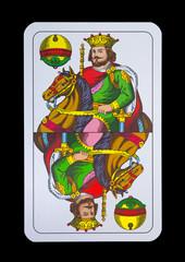 Spielkarten - Schnapskarten  Schellen König