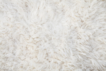 white woolly sheep fleece for background texture