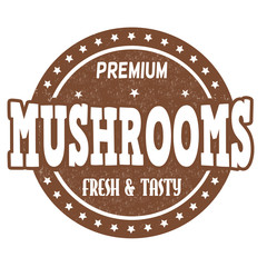 Mushrooms stamp