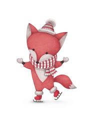Watercolor illustration of fox