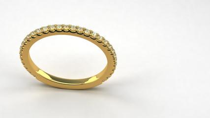 Diamond Wedding Ring (seamless)