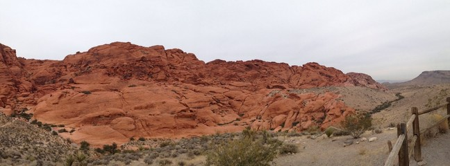 Red Rock Canyon Overlook In The Desert