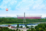 Soccer stadium in Warsaw
