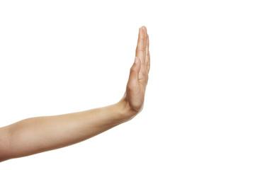 Handzeichen Stop 2