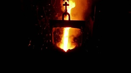 Melted metal is boiling