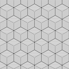 Geometric background, cube design with lines, vector
