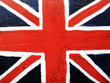 Union Jack on a metal background