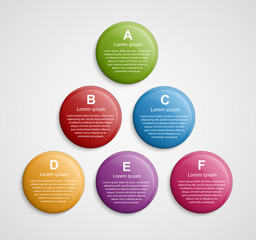 Abstract color circle infographic design template.