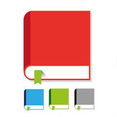 Book icon vector flat set