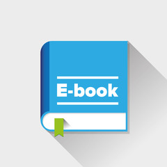 Ebook icon vector flat