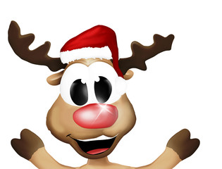 Super Happy Christmas Reindeer