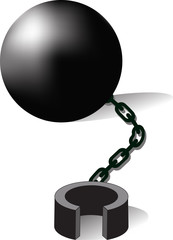 bondage , Ball and chain