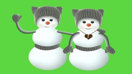 Парочка снеговичков