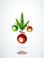Christmas tree branch toy, New Year Concept