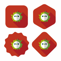 Space sun flat icon with long shadow,eps10