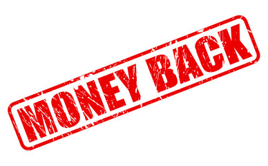 Money back red stamp text