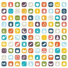 fruit icons, vector, illustration buttons