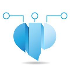blue bubble diagram