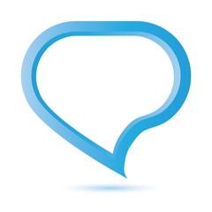 blue pop up speech bubble
