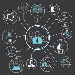teamwork and organization concept