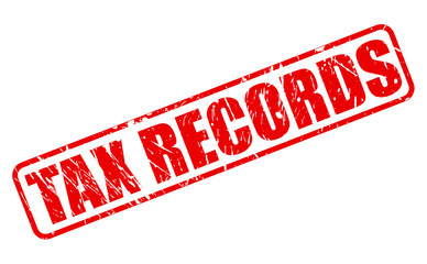 Tax records red stamp text