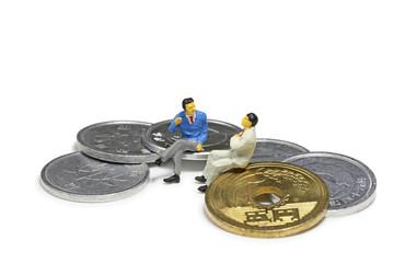 消費税とビジネスマン
