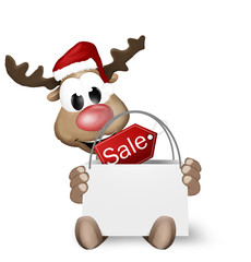 Christmas Reindeer Shopping Bag