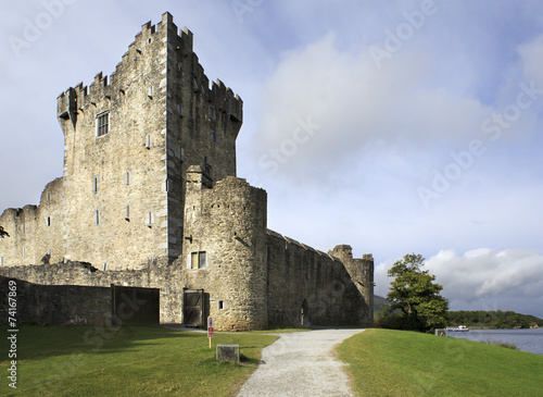 Ross Castle on the island and Lough Leane. - 74167869