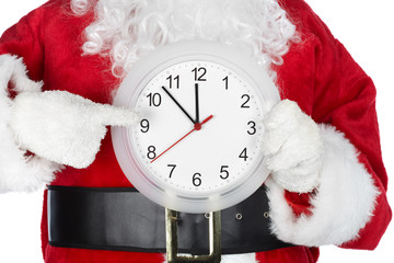 Christmas  Santa with a clock
