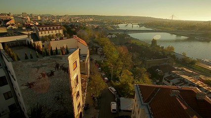 Kosancicev Venac - Brankov bridge - aerial