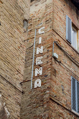 Signboard of cinema
