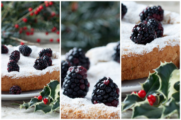 Blackberry Cake Collage