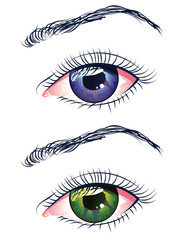 Violet and Green Eyes