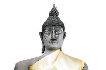 A Buddha statue isolated on white background.
