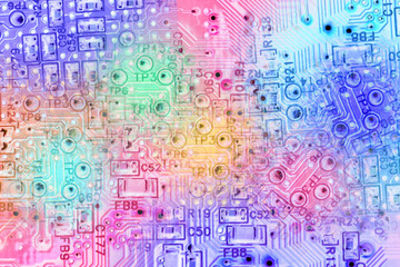 Abstract Electronic Circuit Background