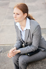 Confident Businesswoman in a City